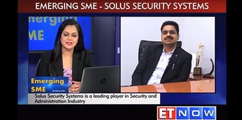 Emerging SME, Solus Security Systems Pvt. Ltd. on ET NOW